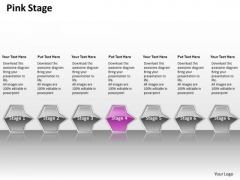 Ppt Successive Flow Of Pink Octagonal 3d Arrows PowerPoint 7 Stage Templates