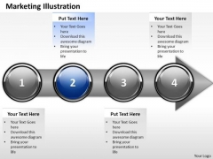 Ppt Successive Illustration Of Marketing Process Using 4 State Diagram PowerPoint Templates