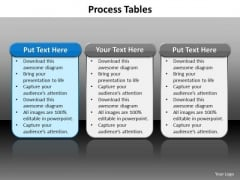 Ppt Tabular Illustration Of Different Writing Process PowerPoint Presentation Templates