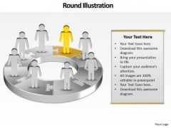 Ppt Team Effort Person Standing Yellow Piece Of Chart PowerPoint Ks2 Templates