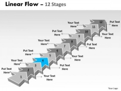Ppt Template 12 Power Point Stage Linear Arrows To Create Sales Plan 5 Design