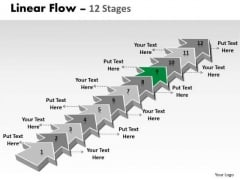 Ppt Template 12 Stages Linear Arrows To Create Business PowerPoint Presentations Plan 10 Image