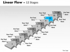 Ppt Template 12 Stages Linear Arrows To Create Business PowerPoint Presentations Plan 11 Image