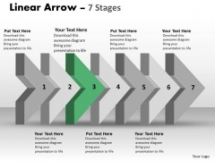 Ppt Template 3d Arrow Representing Constant Steps Working With Slide Numbers 4 Image