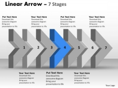 Ppt Template 3d Arrow Representing Constant Steps Working With Slide Numbers 5 Image