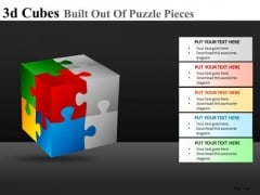 Ppt Template 3d Cube Puzzle Pieces
