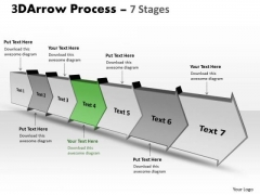Ppt Template 3d Illustration Of Arrow Process 7 State Diagram 5 Graphic