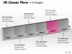 Ppt Template 3d Illustration Of Marketing Planning 6 Phase Diagram Design