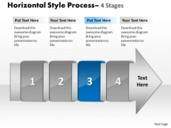 Ppt Template 4 Horizontal Missing Steps Working With Slide Numbers Demonstration Image