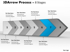 Ppt Template Continous Custom Sample Presentation PowerPoint Download Flow Diagram 8 Image