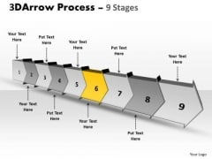 Ppt Template Continous Free Concept Flow Process Charts Diagram 7 Image