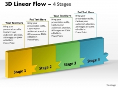 Ppt Template Continous Way To Show 4 Stages Firm Process 1 Design