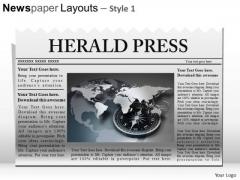 Ppt Template Editable Newspaper Headline PowerPoint Slide Graphics
