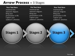 Ppt Template Evolution Of Three Stages Circular Arrows Time Management PowerPoint 4 Design