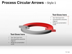 Ppt Templates 2 Stage Circular Arrows Cycle Diagram PowerPoint Slides