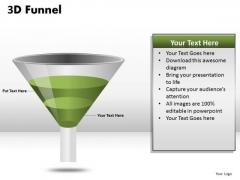 Ppt Templates 3d Funnel Diagram PowerPoint Slides