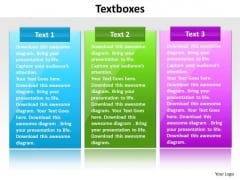 Ppt Text Link Boxes PowerPoint 2007 Templates