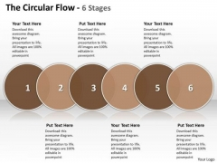 Ppt The Circular Flow 6 State PowerPoint Project Diagram Templates
