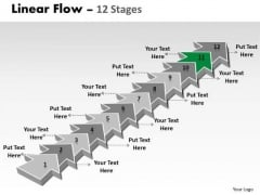 Ppt Theme 12 Stages Linear Arrows To Create Business Representation Video Plan Design