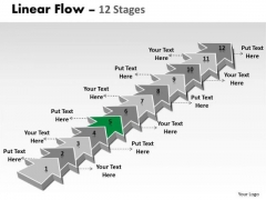 Ppt Theme 12 Stages Linear Arrows To Create Professional Pre Plan 6 Graphic