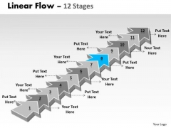 Ppt Theme 12 Stages Linear Arrows To Create World Model Plan 9 Design