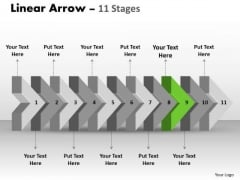 Ppt Theme 3d 415 PowerPoint Graphics Free Download Of Beeline Arrow Flow Diagram 10