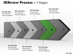 Ppt Theme 3d Continuous PowerPoint Slideshow Arrow Steps Diagram Free 7 Graphic