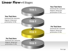 Ppt Theme 3d Illustration Of 4 Stages Transnational Representation Video Process Graphic