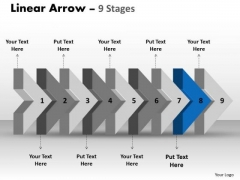 Ppt Theme Beeline Flow Manner Charts Arrow Ishikawa Diagram PowerPoint Template 9 Design