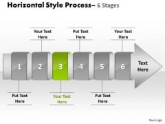 Ppt Theme Horizontal Flow Of 6 Stage Spider Diagram PowerPoint Template 4 Design