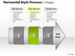 Ppt Theme Horizontal To Vertical Text Steps Working With Slide Numbers Demonstration 3 Graphic