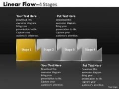 Ppt Theme Mechanism Of Four Stages Marketing Linear Flow Business Plan PowerPoint 2 Image