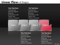 Ppt Theme Mechanism Of Four State Diagram Marketing Linear Flow Activity Charts 5 Graphic