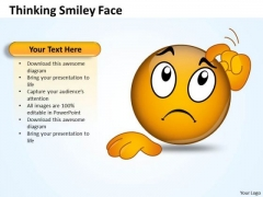 Ppt Thinking Smiley Face Graphic Communication Skills PowerPoint Business Templates