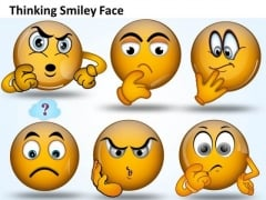Ppt Thinking Smiley Face Graphic Communication Skills PowerPoint Growth Templates