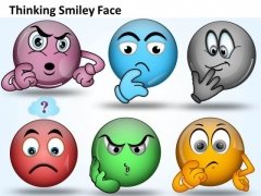 Ppt Thinking Smiley Face Graphic Time Management PowerPoint Diagram Templates