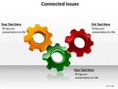 Ppt Three Live Connections Issues Processes Or Topics PowerPoint Templates
