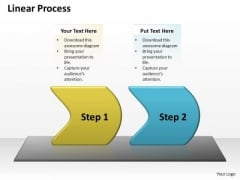 Ppt Two Practice The PowerPoint Macro Steps Linear Process Templates
