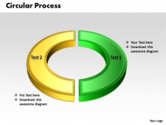 Ppt Two Stages Colorful Circular Communication Process PowerPoint Presentation Templates