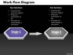 Ppt Two Stages Sequential Marketing Flow Diagram 1 PowerPoint Templates