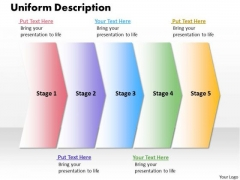 Ppt Uniform Description Of 5 Steps Working With Slide Numbers PowerPoint Templates