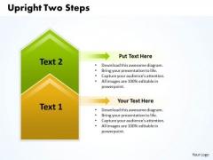 Ppt Upright 2 Steps Description PowerPoint Templates