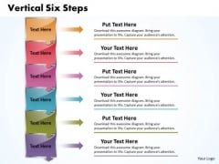 Ppt Vertical 6 Steps Downward PowerPoint Templates
