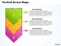 Ppt Vertical Arrow Steps Working With Slide Numbers Description PowerPoint Templates