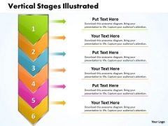 Ppt Vertical Stages Illustrated Through Arrow PowerPoint Templates
