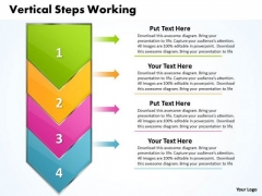 Ppt Vertical Steps Working With Slide Numbers Demonstration PowerPoint Templates