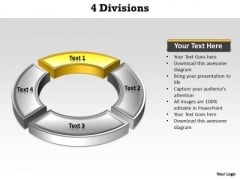 Ppt Yellow Division Illustrating One Issue PowerPoint Templates
