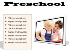 Preschool Education PowerPoint Presentation Slides F