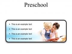 Preschool Education PowerPoint Presentation Slides R