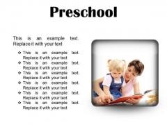 Preschool Education PowerPoint Presentation Slides S